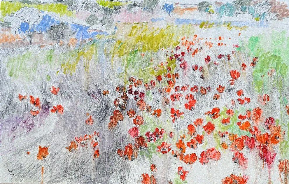 她的油画作品色彩丰富,充满爱意插图107