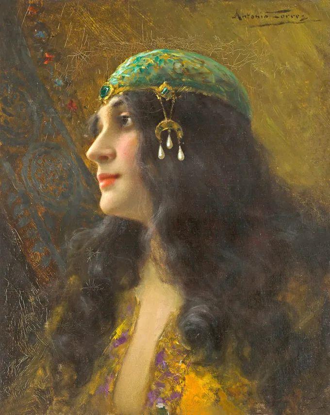 德国画家康拉德油画里的优雅女子,美!插图7