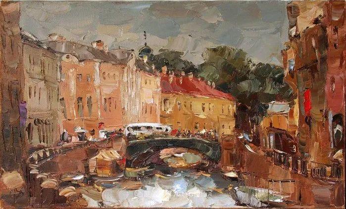 俄罗斯画家 弗拉基米尔·苏科瓦蒂 刮刀油画作品欣赏插图101