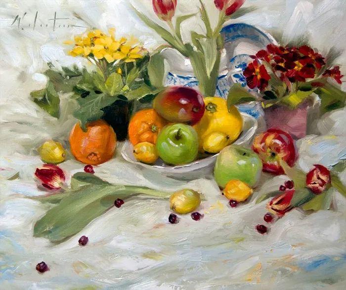 自学油画,她用真情描绘着周围的世界之美插图23