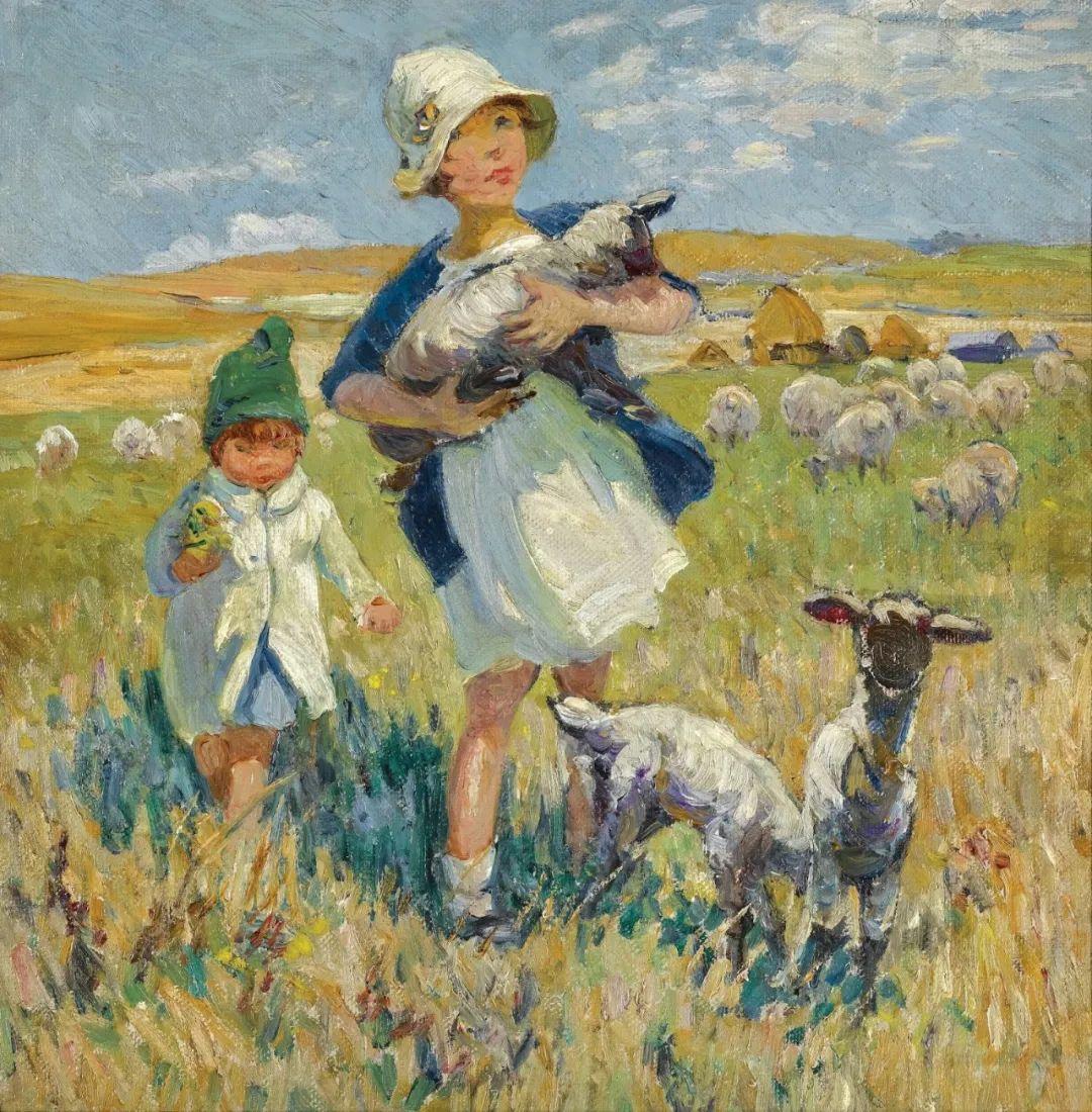 充满着写意风格的绘画,20世纪英国最伟大的女画家之一夏普插图7