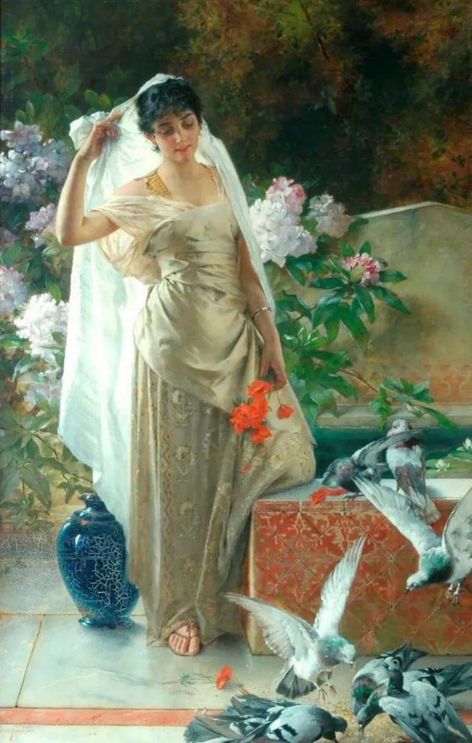 德国画家康拉德油画里的优雅女子,美!插图11