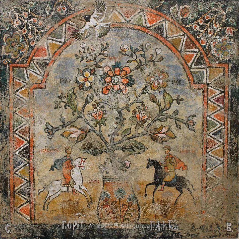 古典风格蛋彩画,俄罗斯画家弗拉基米尔·亚历山德罗维奇插图85