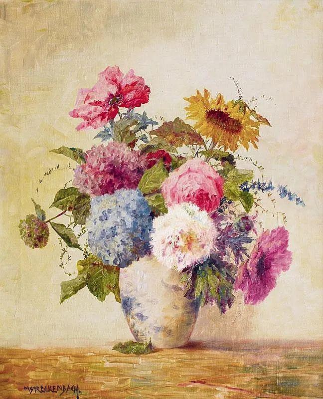 学医的他,37岁才开始自学绘画,笔下五颜六色的花束,太美了!插图1