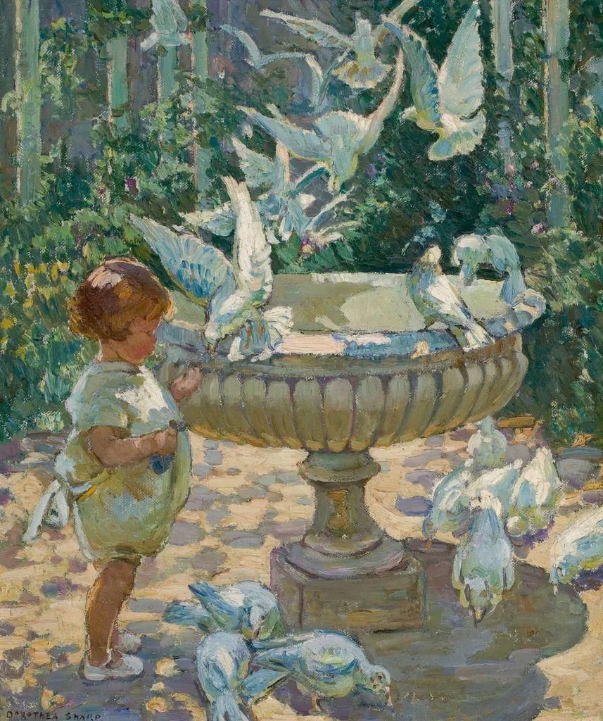 充满着写意风格的绘画,20世纪英国最伟大的女画家之一夏普插图49