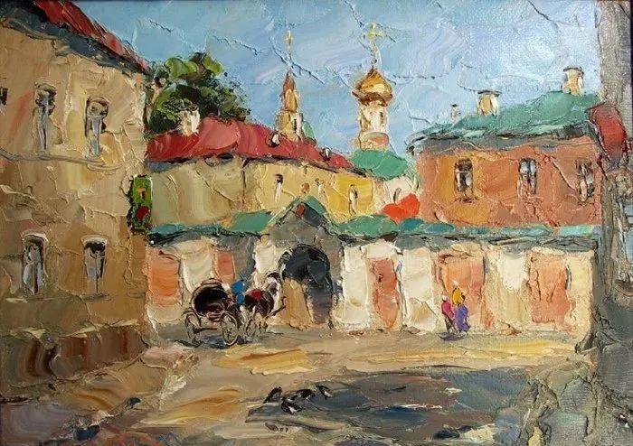 俄罗斯画家 弗拉基米尔·苏科瓦蒂 刮刀油画作品欣赏插图55