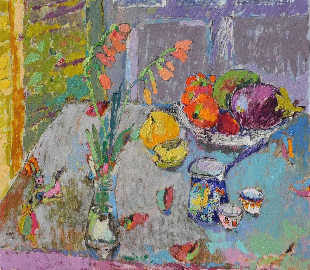 她的油画作品色彩丰富,充满爱意插图45