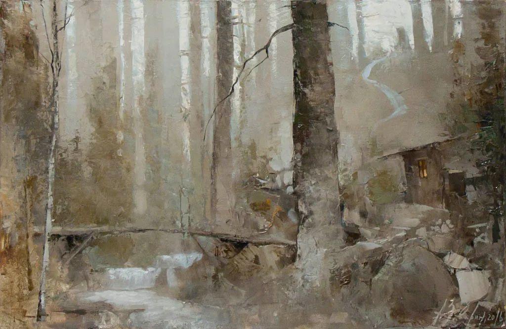 笔触率性,优雅朦胧的风景油画,迷人!插图33