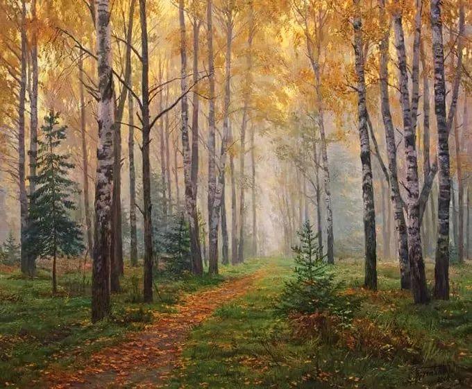 """岁月静好,俄罗斯"""" 小希施金 """" 的自然风景油画,美极了!插图39"""