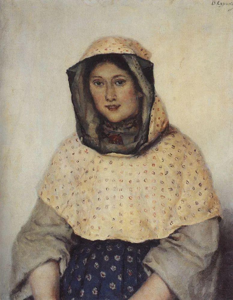 俄罗斯画坛先驱人物,瓦西里·苏里科夫人物作品选粹插图40