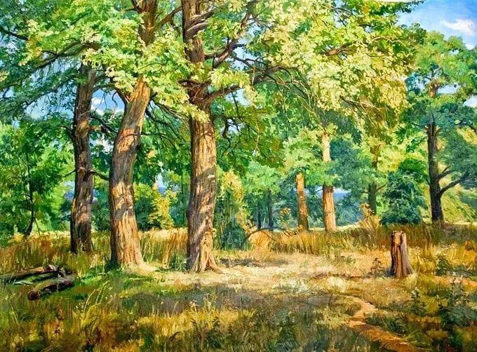 """岁月静好,俄罗斯"""" 小希施金 """" 的自然风景油画,美极了!插图11"""