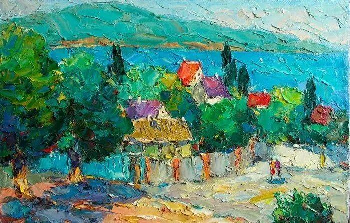 俄罗斯画家 弗拉基米尔·苏科瓦蒂 刮刀油画作品欣赏插图1