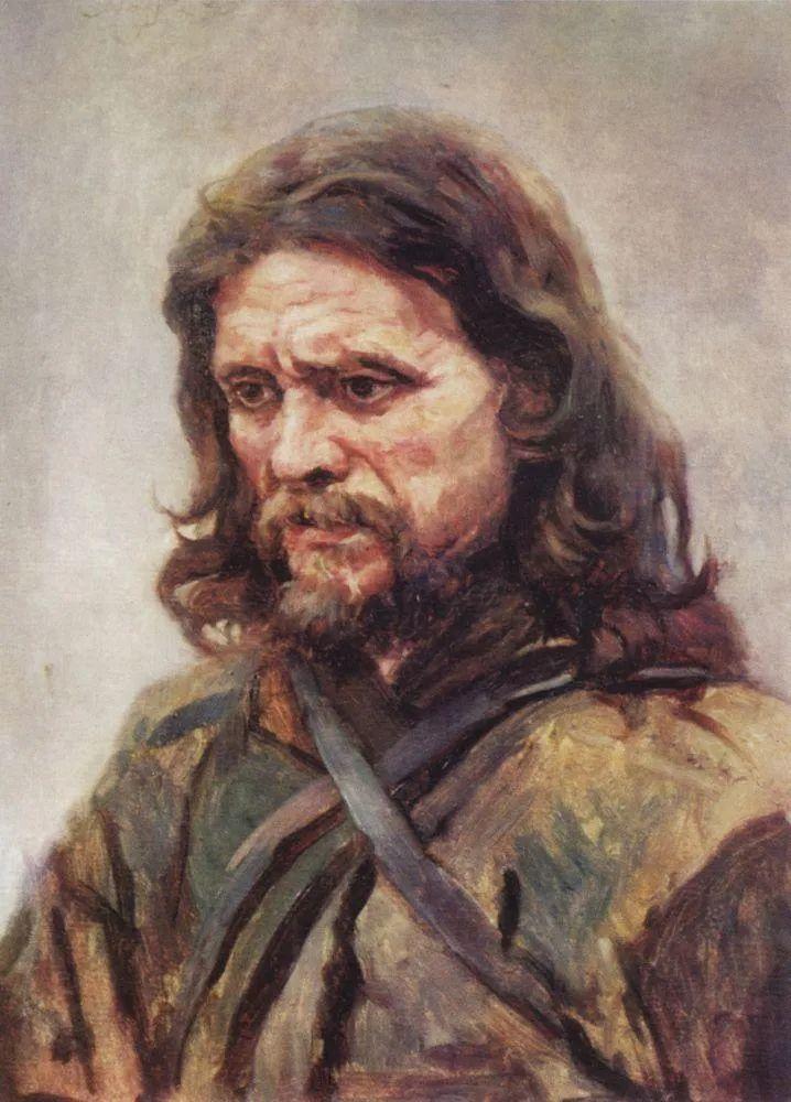 俄罗斯画坛先驱人物,瓦西里·苏里科夫人物作品选粹插图30