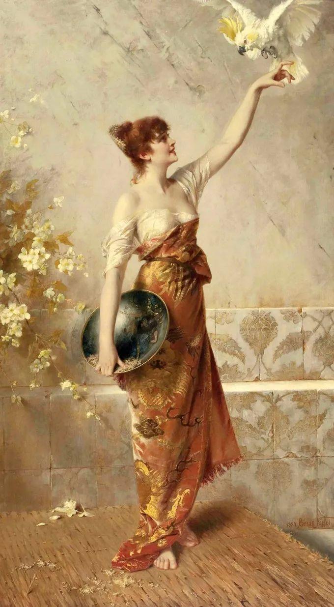 德国画家康拉德油画里的优雅女子,美!插图3