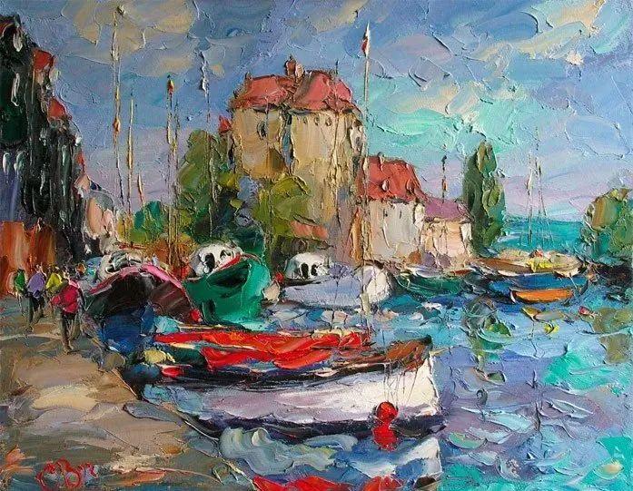 俄罗斯画家 弗拉基米尔·苏科瓦蒂 刮刀油画作品欣赏插图13