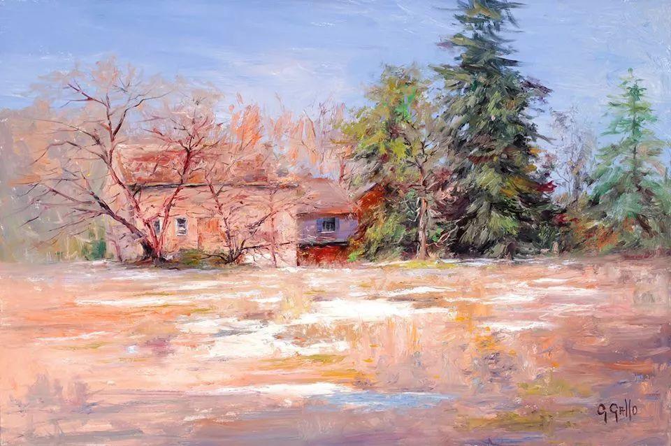 风景油画丨美国艺术家乔治·加洛的风景油画作品插图31