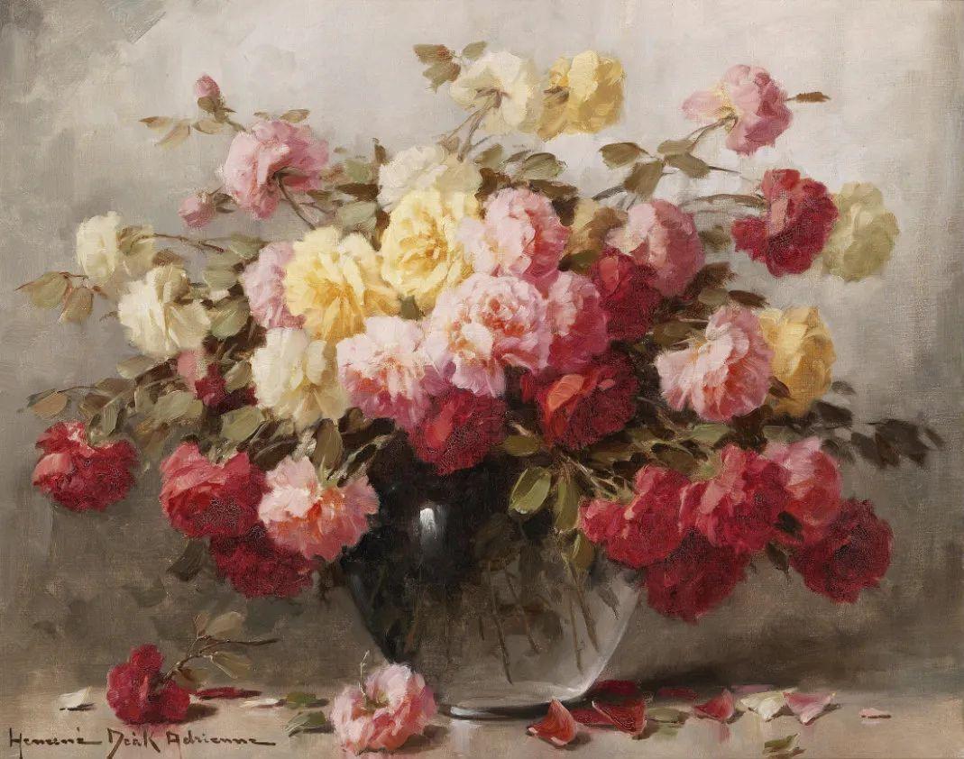 学医的他,37岁才开始自学绘画,笔下五颜六色的花束,太美了!插图49