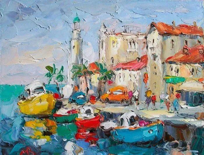 俄罗斯画家 弗拉基米尔·苏科瓦蒂 刮刀油画作品欣赏插图7