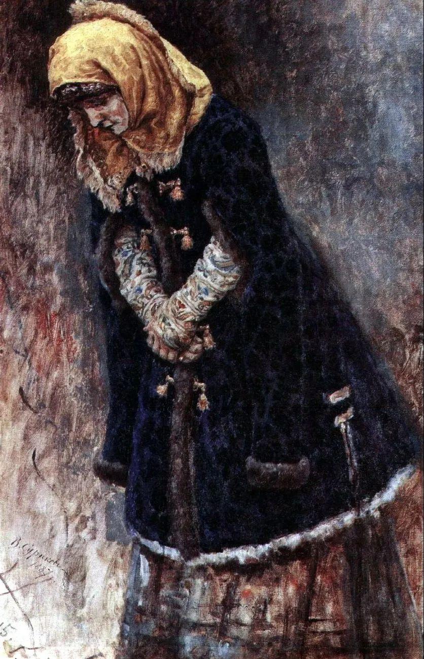 俄罗斯画坛先驱人物,瓦西里·苏里科夫人物作品选粹插图7