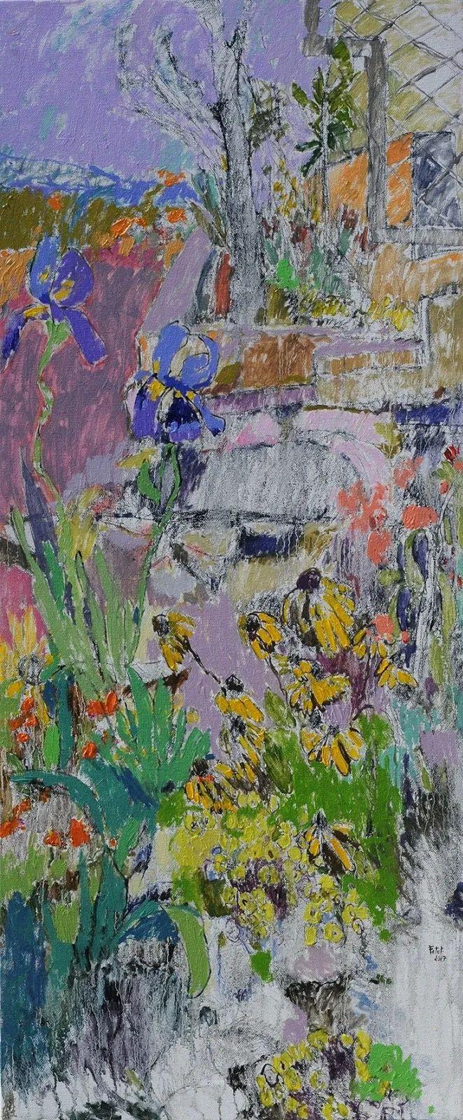 她的油画作品色彩丰富,充满爱意插图115