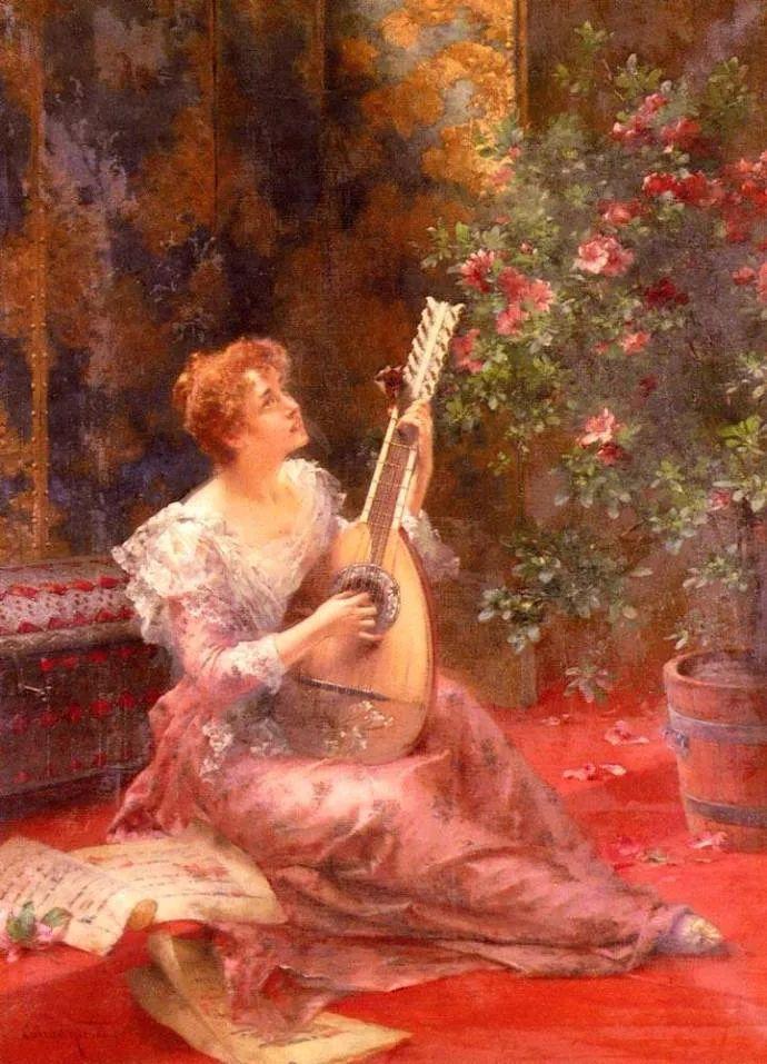 德国画家康拉德油画里的优雅女子,美!插图37
