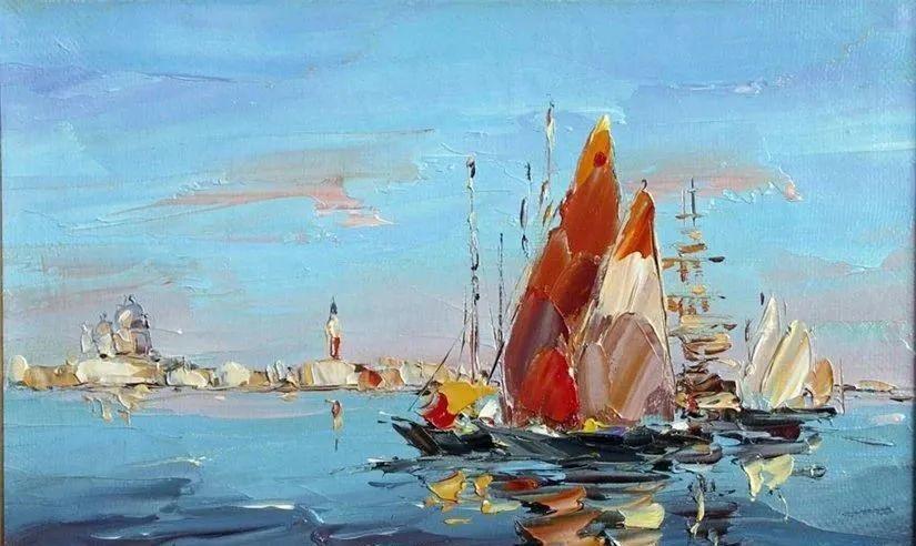 俄罗斯画家 弗拉基米尔·苏科瓦蒂 刮刀油画作品欣赏插图59