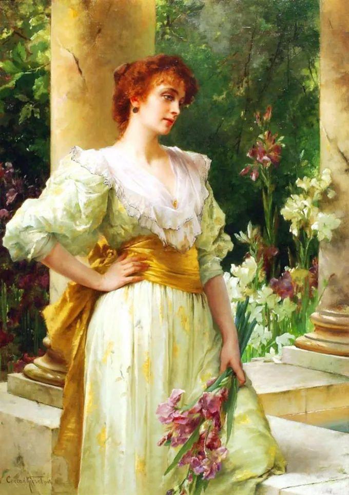 德国画家康拉德油画里的优雅女子,美!插图15