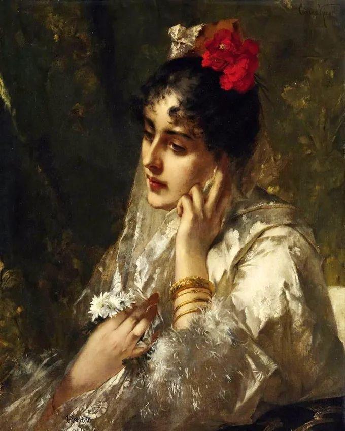 德国画家康拉德油画里的优雅女子,美!插图73