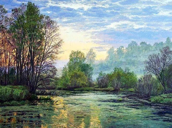 """岁月静好,俄罗斯"""" 小希施金 """" 的自然风景油画,美极了!插图47"""