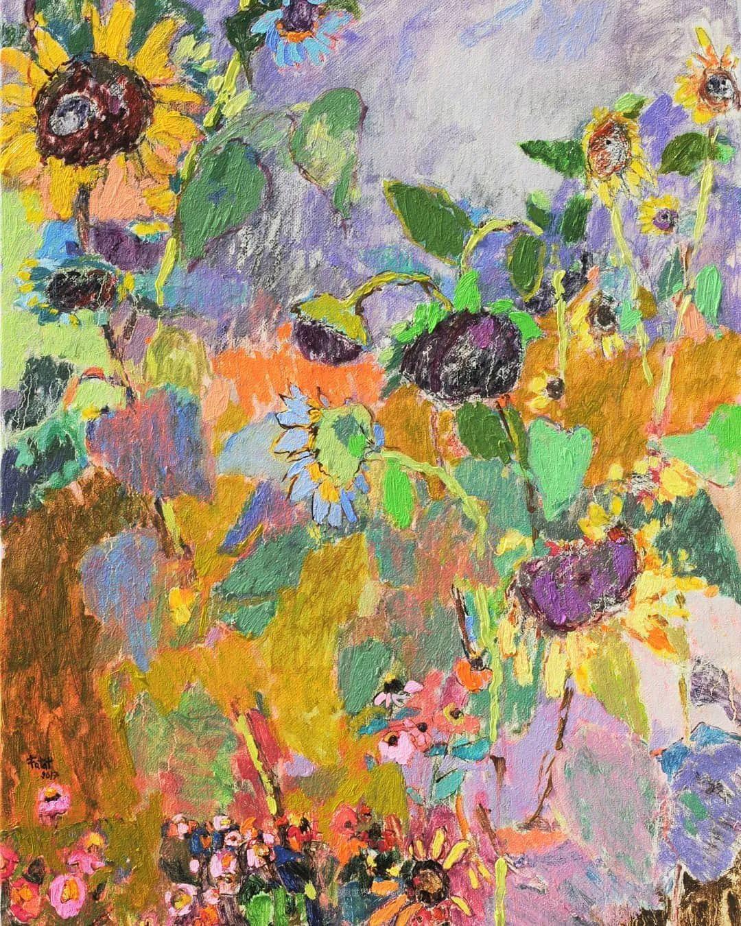 她的油画作品色彩丰富,充满爱意插图65