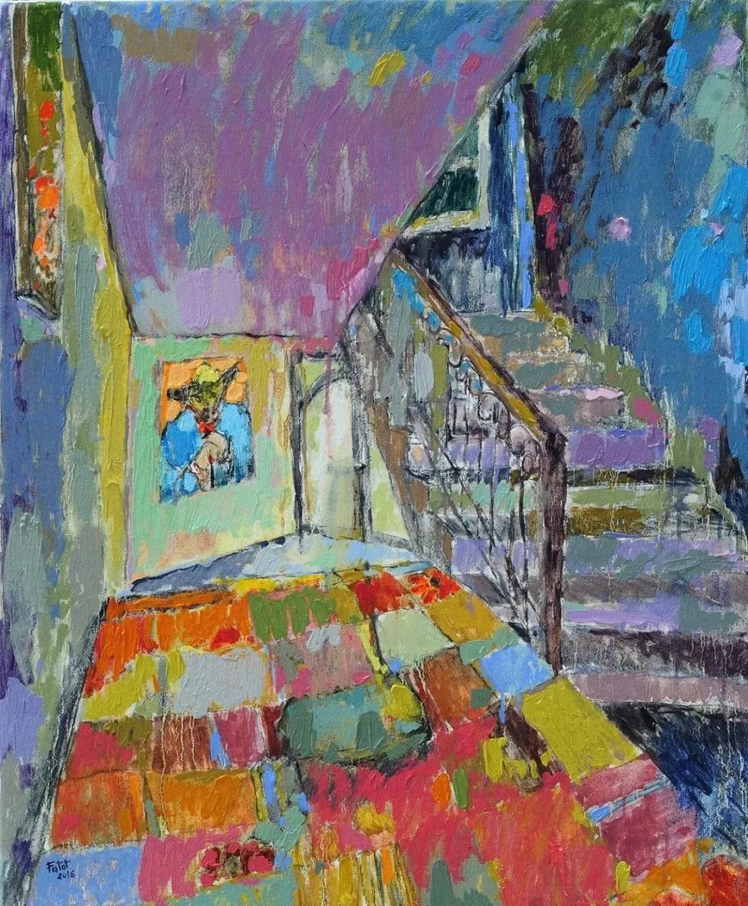 她的油画作品色彩丰富,充满爱意插图39