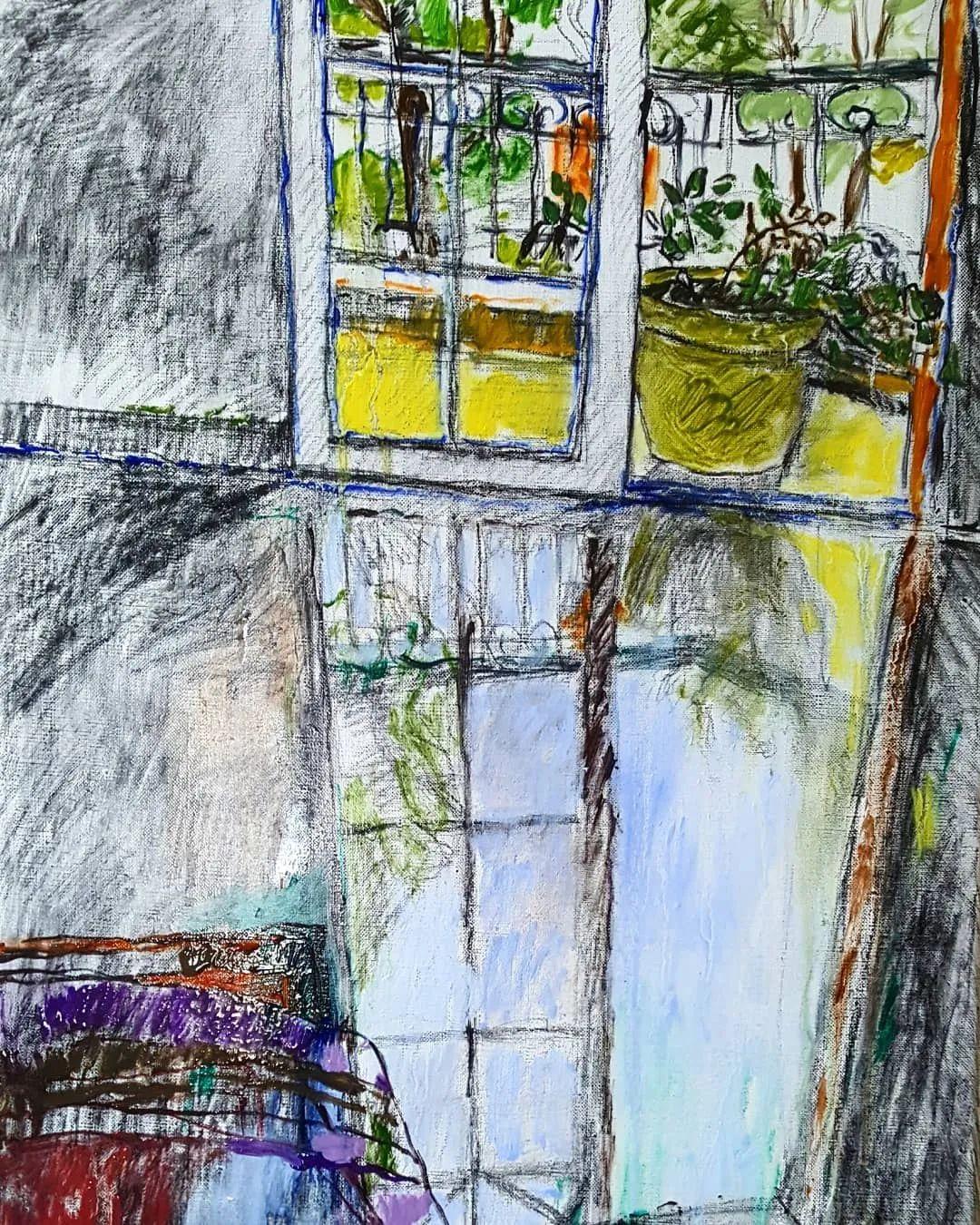 她的油画作品色彩丰富,充满爱意插图95