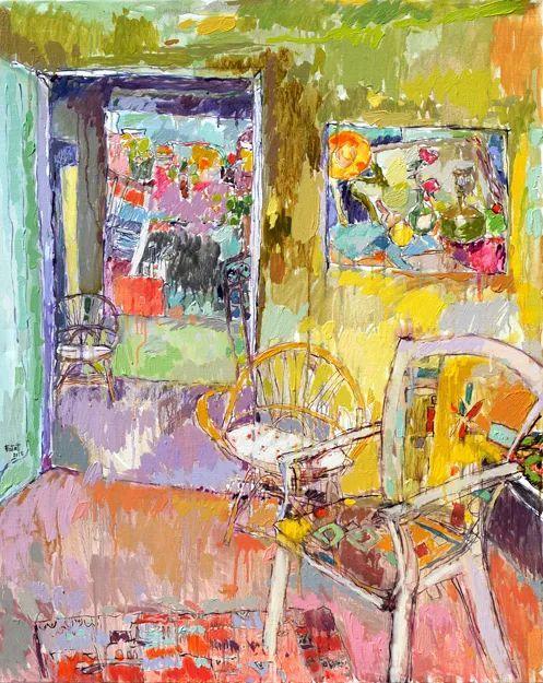 她的油画作品色彩丰富,充满爱意插图53