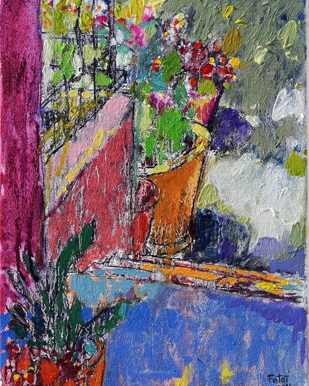 她的油画作品色彩丰富,充满爱意插图61