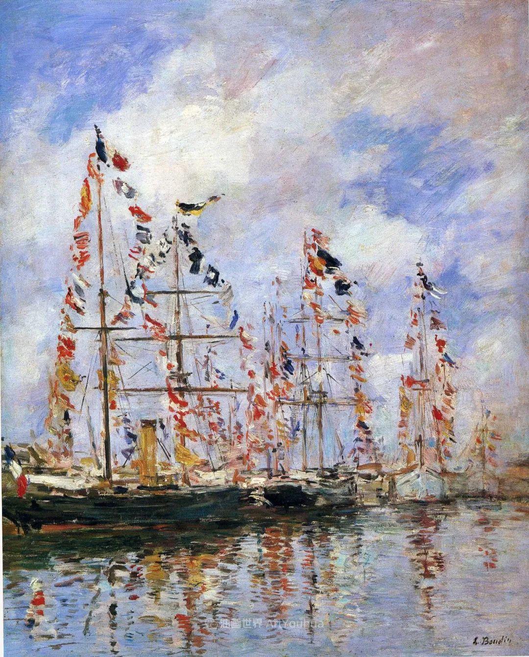 法国最早印象派画家欧仁·布丹,曾教莫奈写生!插图149