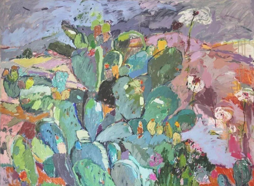 她的油画作品色彩丰富,充满爱意插图87