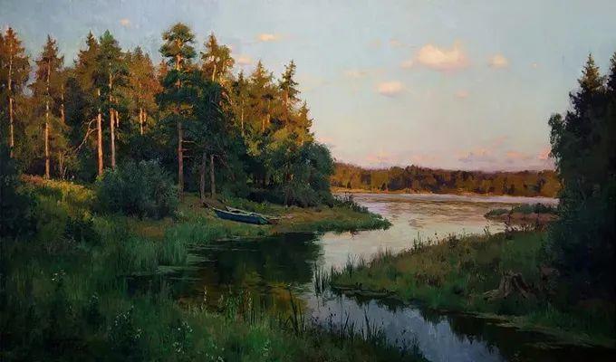 """岁月静好,俄罗斯"""" 小希施金 """" 的自然风景油画,美极了!插图33"""