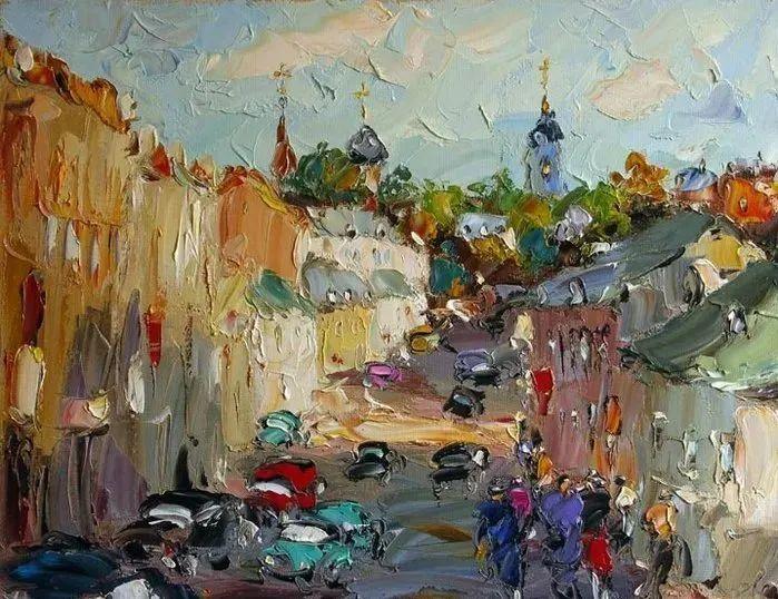俄罗斯画家 弗拉基米尔·苏科瓦蒂 刮刀油画作品欣赏插图43