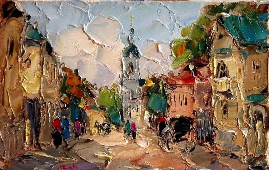 俄罗斯画家 弗拉基米尔·苏科瓦蒂 刮刀油画作品欣赏插图65