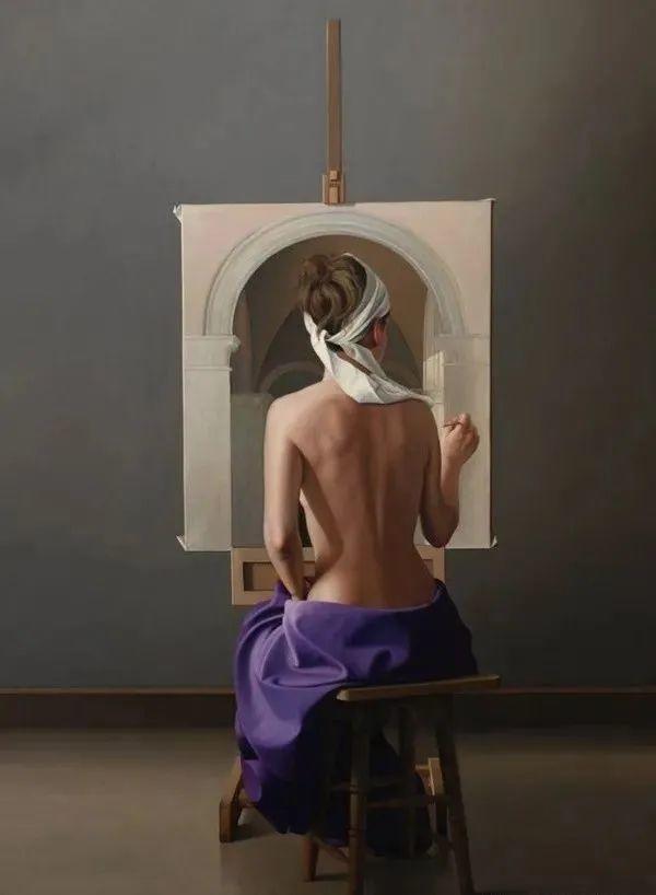 秘鲁自学成才艺术家的写实油画,展现着油画人物不同的美插图25