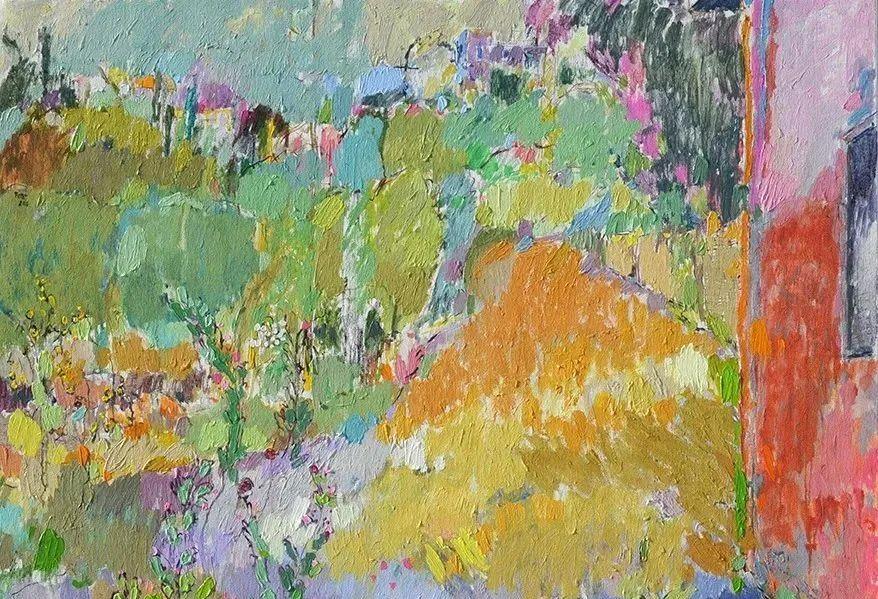 她的油画作品色彩丰富,充满爱意插图27