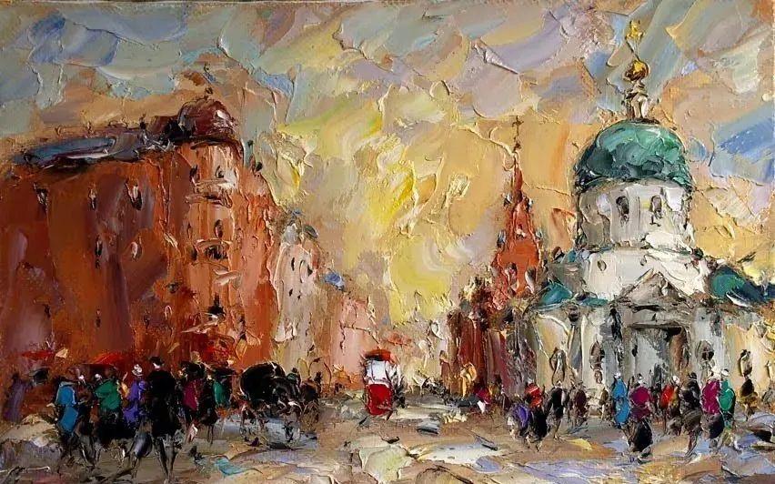 俄罗斯画家 弗拉基米尔·苏科瓦蒂 刮刀油画作品欣赏插图33
