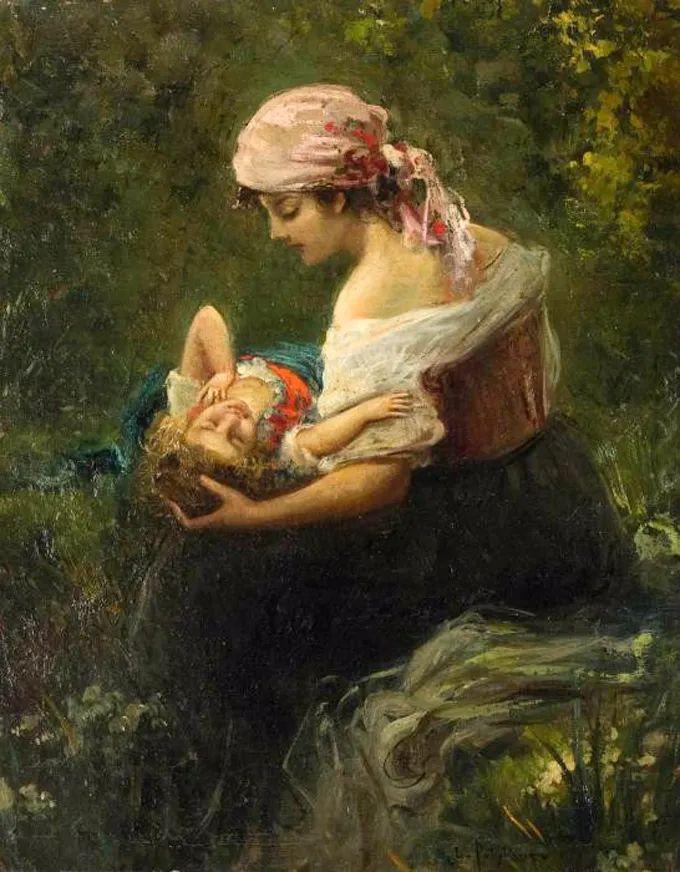 德国画家康拉德油画里的优雅女子,美!插图65