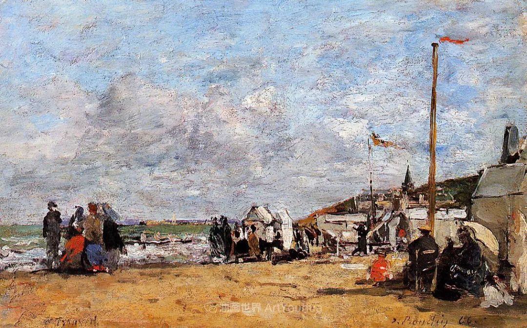 法国最早印象派画家欧仁·布丹,曾教莫奈写生!插图73