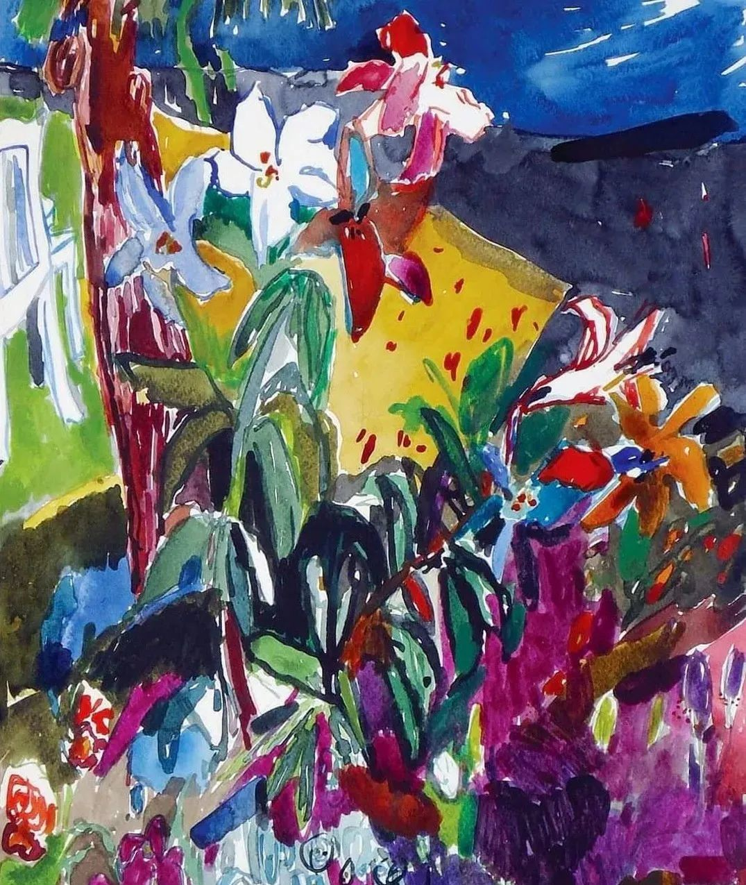 她的油画作品色彩丰富,充满爱意插图57