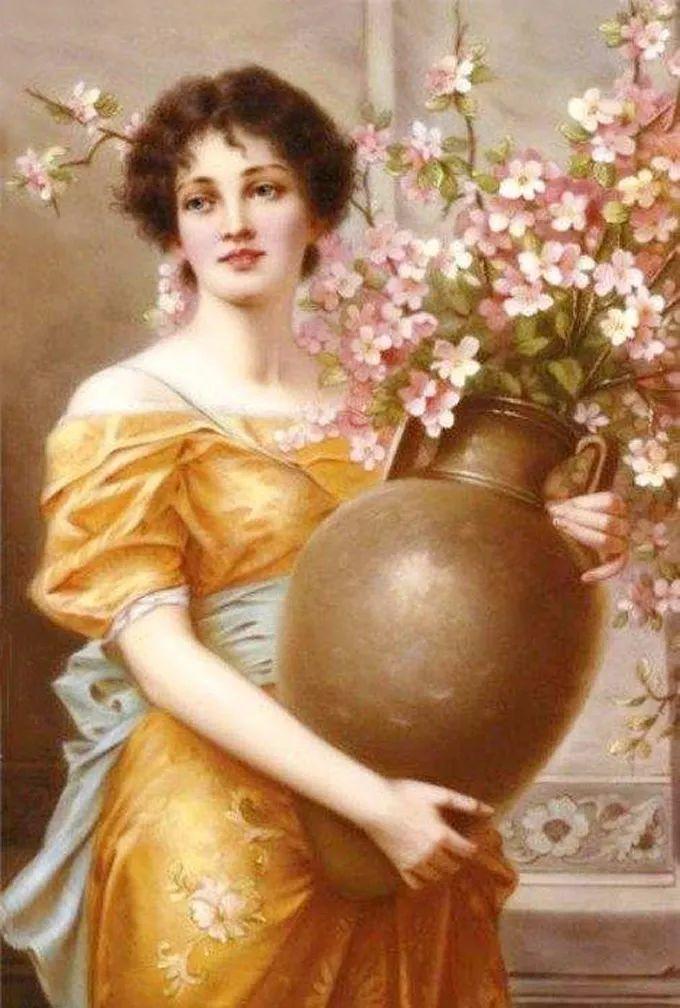 德国画家康拉德油画里的优雅女子,美!插图19