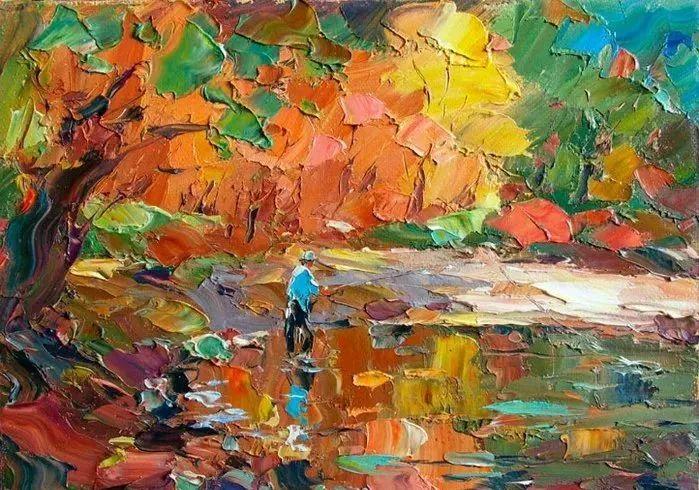 俄罗斯画家 弗拉基米尔·苏科瓦蒂 刮刀油画作品欣赏插图19
