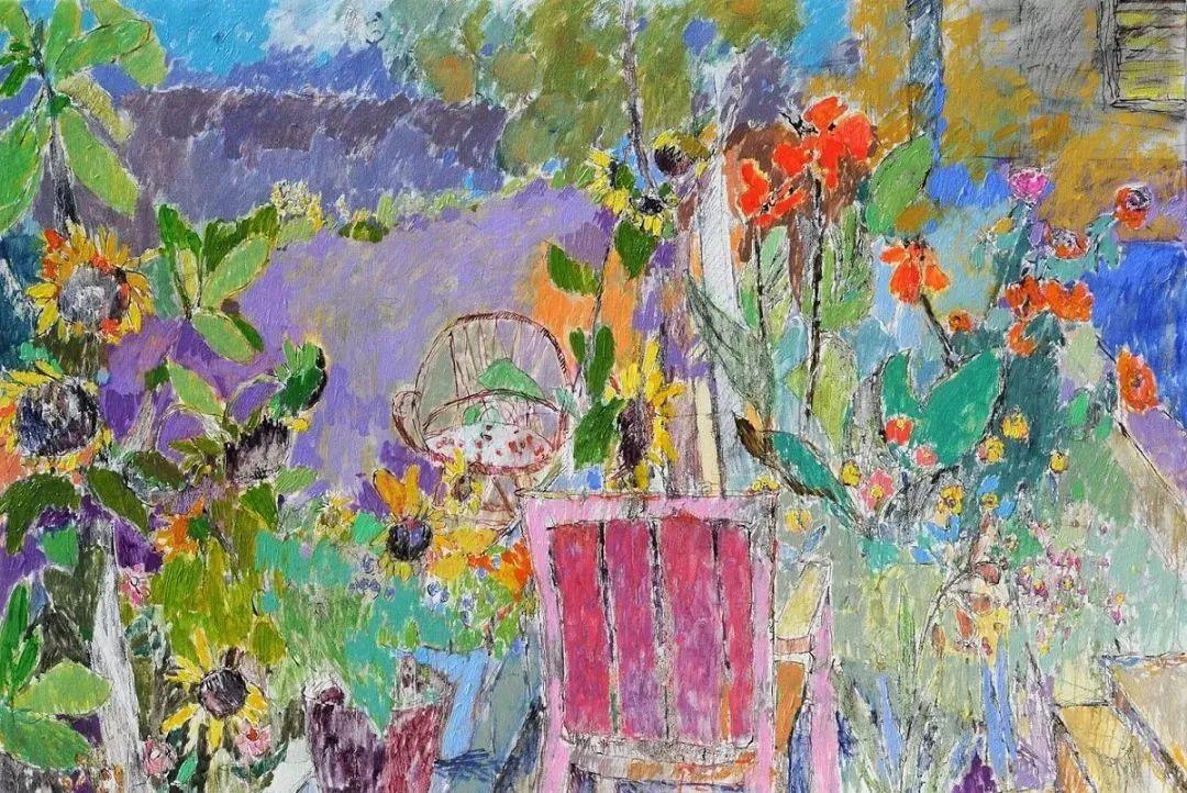她的油画作品色彩丰富,充满爱意插图3