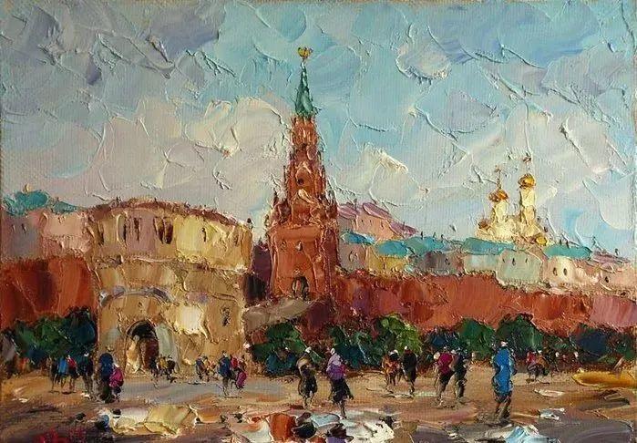俄罗斯画家 弗拉基米尔·苏科瓦蒂 刮刀油画作品欣赏插图85