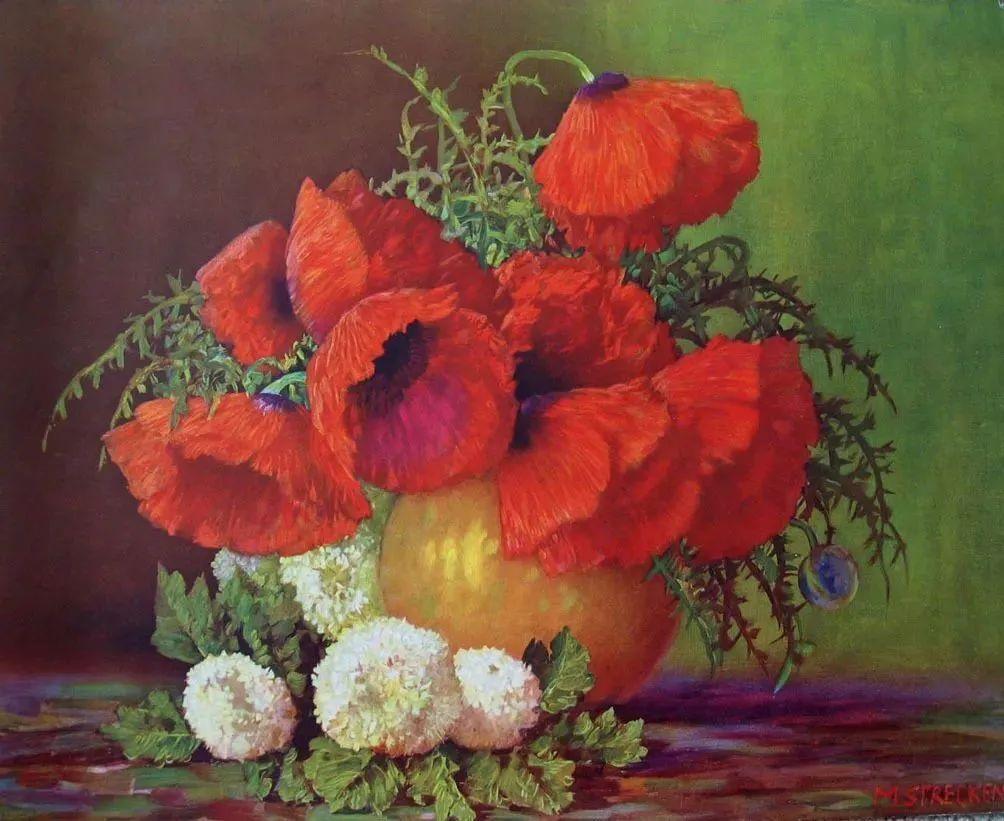 学医的他,37岁才开始自学绘画,笔下五颜六色的花束,太美了!插图39
